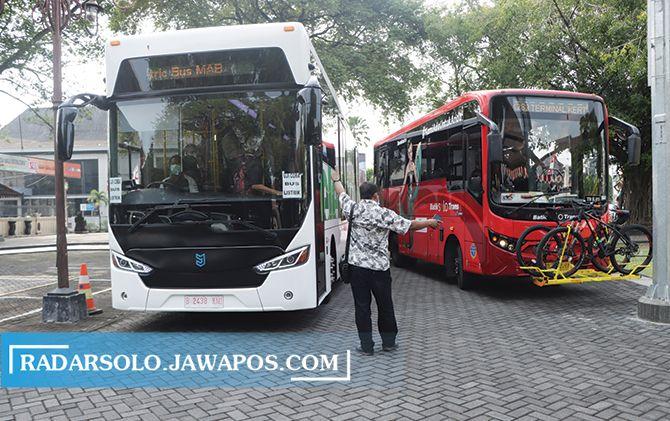 Solo Bakal Punya Bus Listrik, BST pun Dilengkapi Rak untuk Sepeda