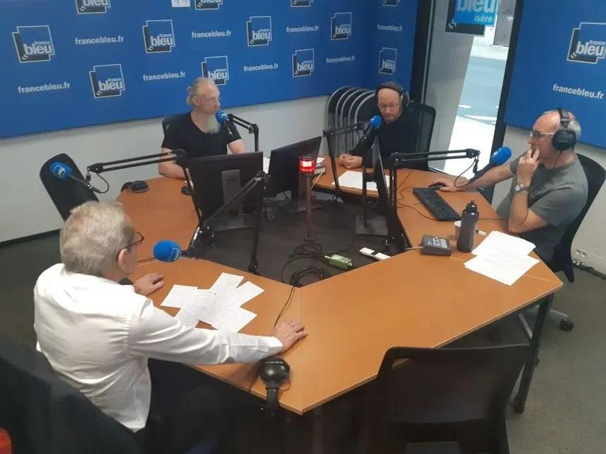 Alain Carignon ce matin dans le studio de France Bleu Isère - Radio France