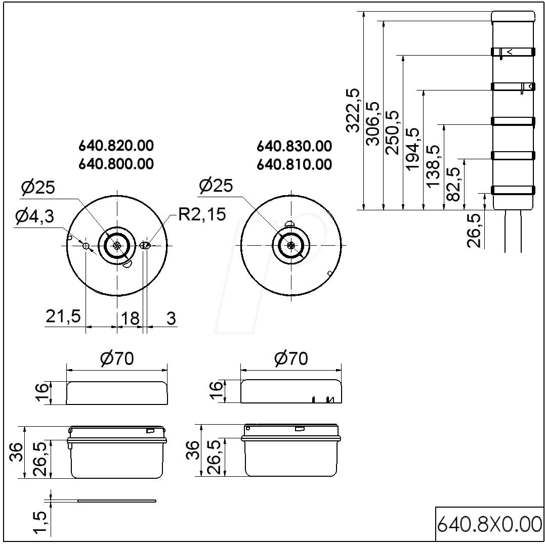 Werma 640 820 00 Connecting Element Floor Screw At