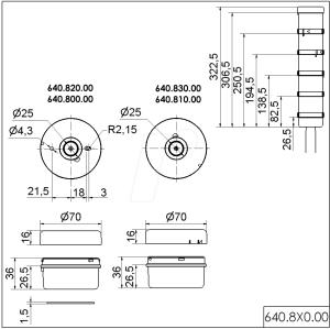 WERMA 640 830 00: Anschlusselement, Rohr, schraub bei reichelt elektronik