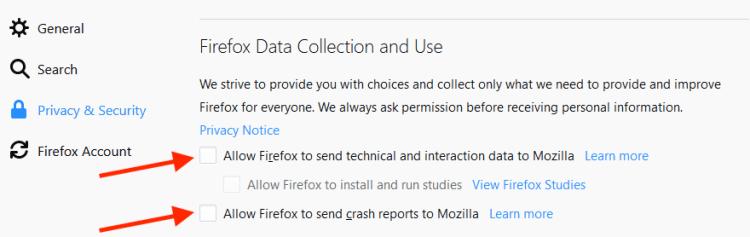 firefox privacy telemetry