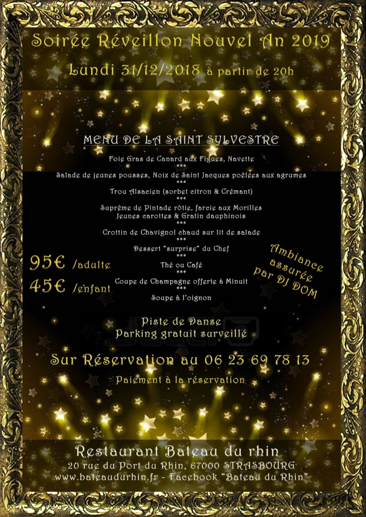 illustration soiree reveillon nouvel an 2019