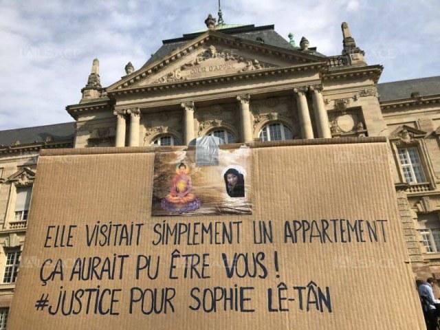 Devant la cour d'appel de Colmar. Photo L'Alsace/ Jean-Frédéric Surdey