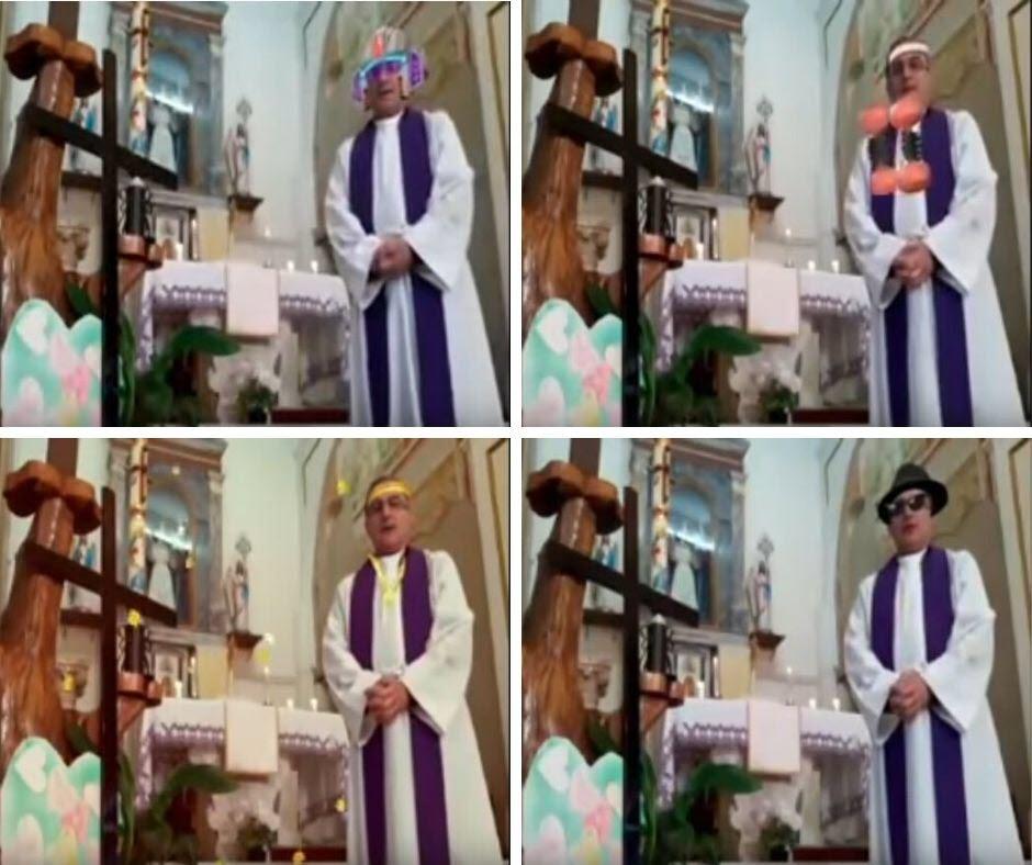 italien diffuse une messe en direct