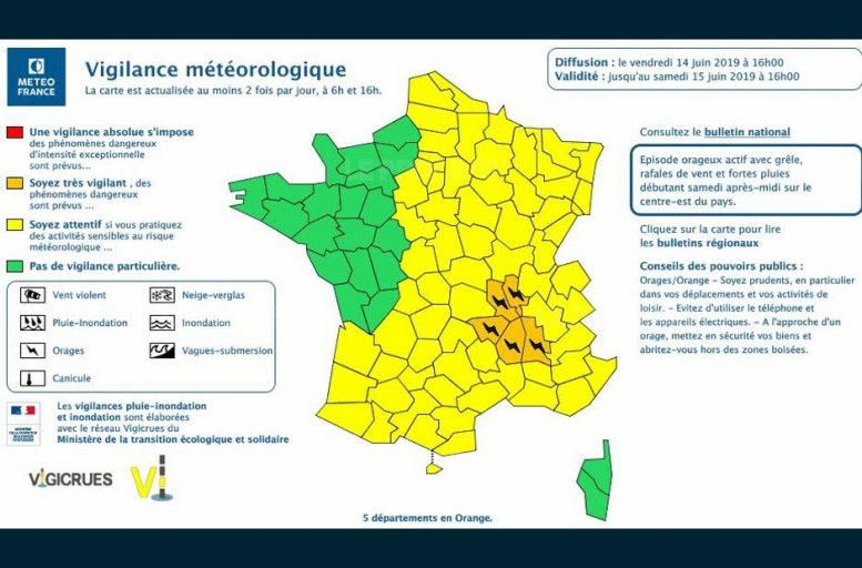 Photo capture d'écran Météo France