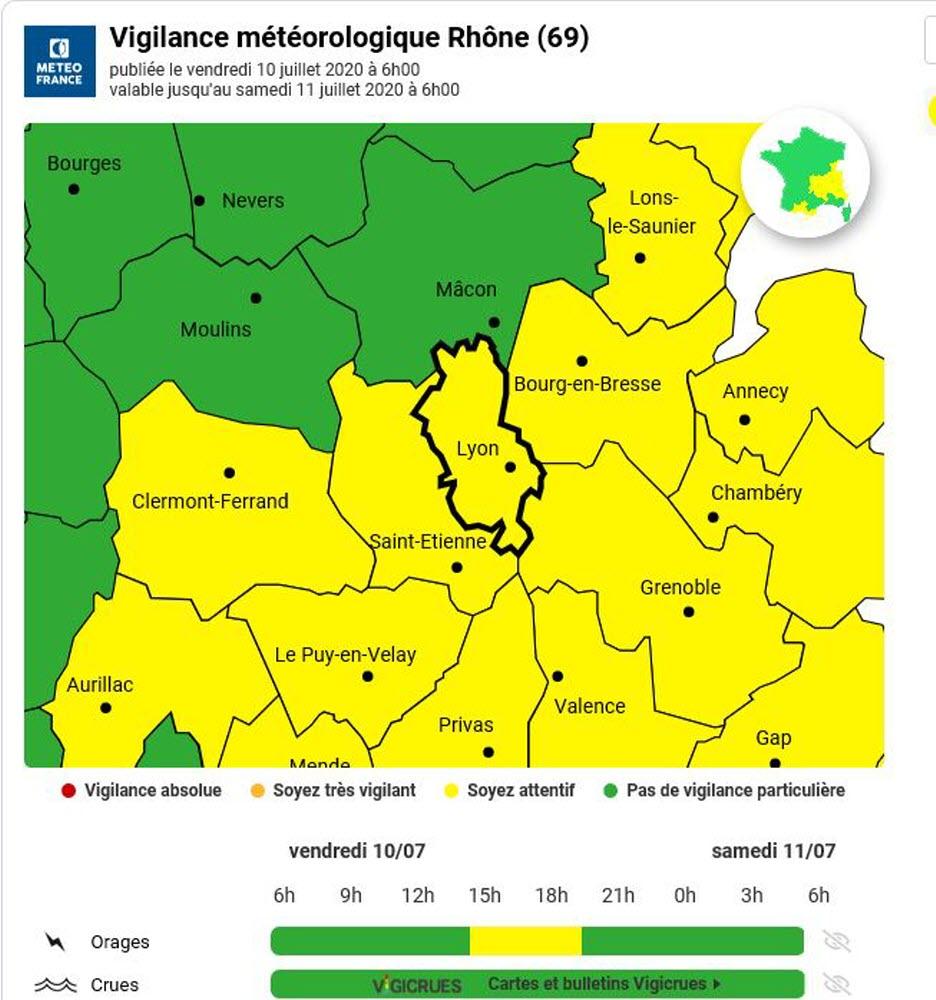 alpes alerte jaune orages