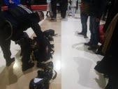 Deminers inspect journalists' equipment.  Photo RL