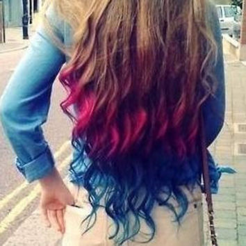 color your hair at home chalk hair from shareeboutique on etsy