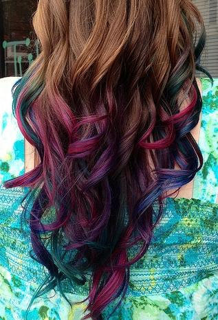 temporary hair colored chalk dip dye from shareeboutique on