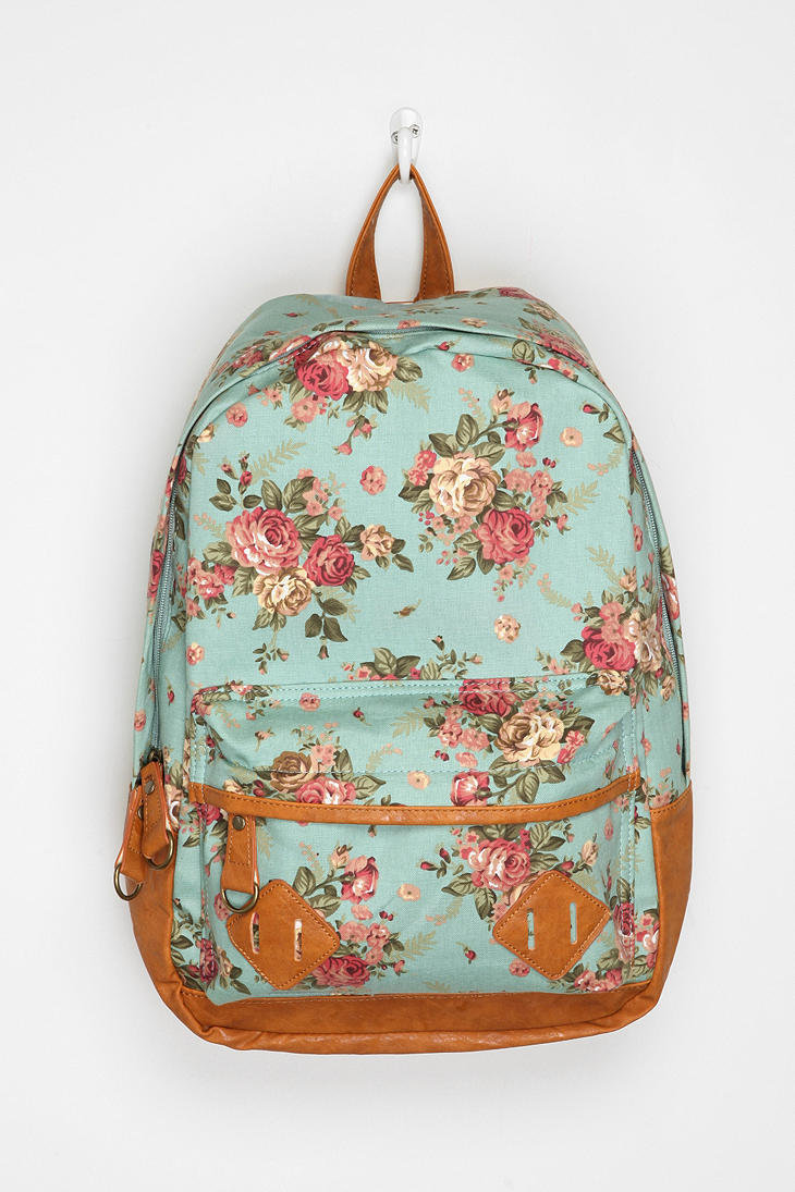 Carrot Exploding Floral Backpack From Urban Outfitters Epic