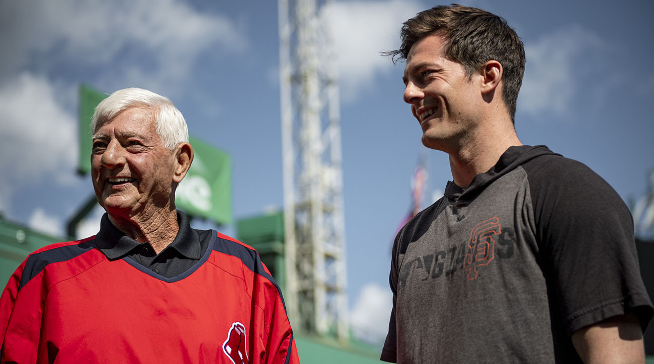 Mike Yastrzemski Homers in Fenway Park Debut With Grandfather in Attendance
