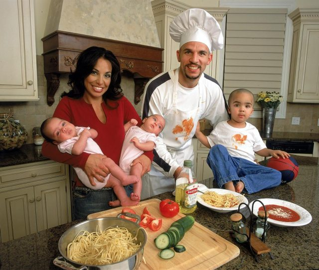 Chef Kidd And His Then Wife Joumana Whip Up A Meal With Son T J And