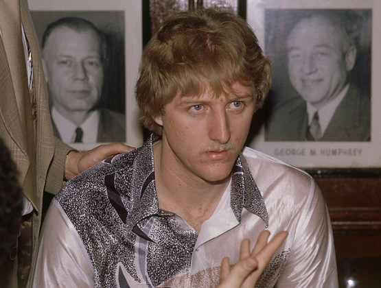 Larry Bird  Remembering Celtics legend s prime on anniversary of     Bird wears a snazzy shirt to a dinner with Celtics brass