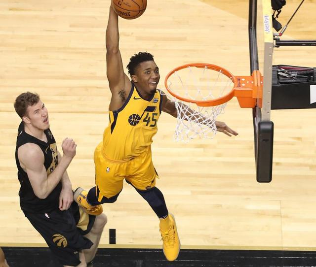 All Star Game Slam Dunk Contest Donovan Mitchell To Replace Aaron Gordon Si Com
