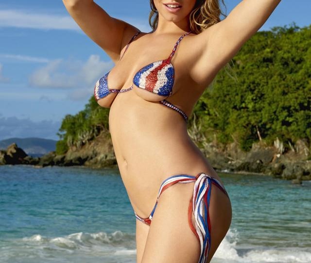 Hailey Clauson Swimsuit Body Paint Photo