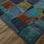 Contemporary Abstract Pattern Area Rug Blue Green 2 L X 3 W Jaipur Rugs Touch Of Modern