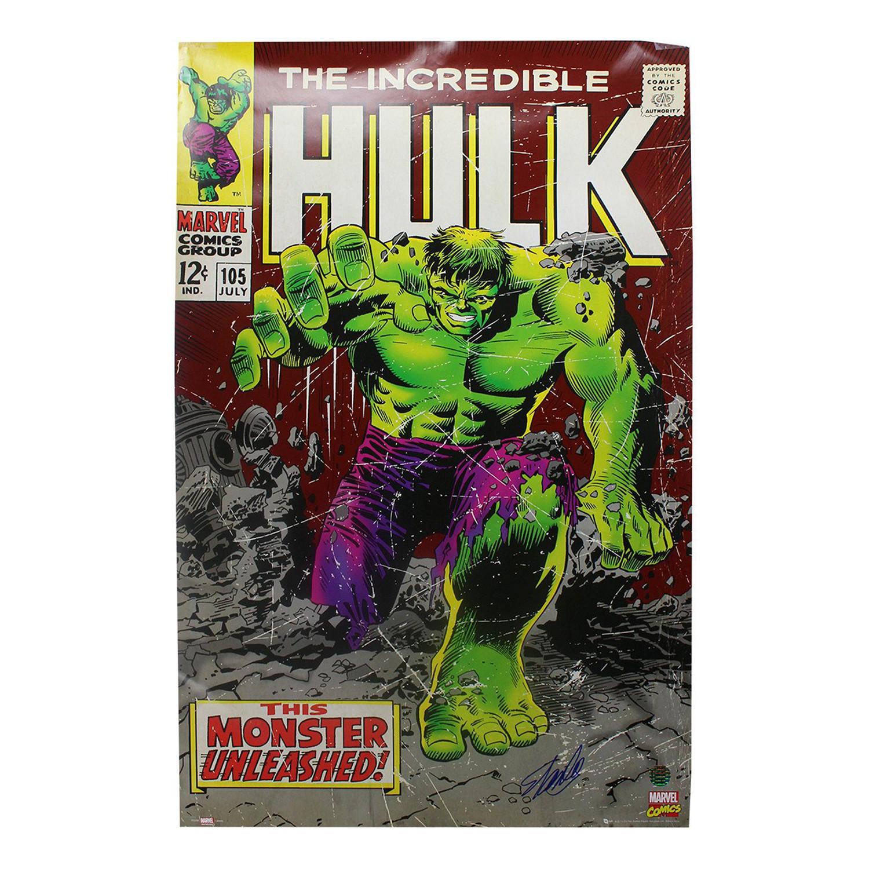 stan lee signed incredible hulk framed