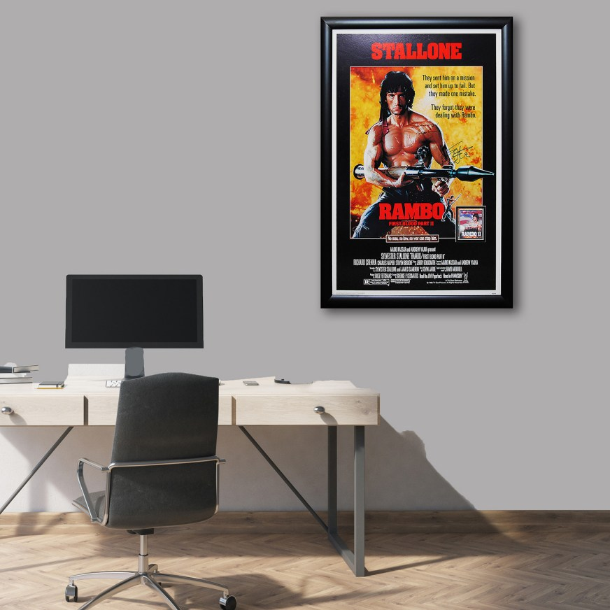 Framed Autographed Poster // Rambo: First Blood Part II ...