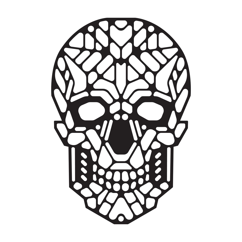 Sugar Skull Black White Outline Montreal Permanent Store Touch Of Modern
