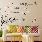 Classic Live Laugh And Swarovski Wall Sticker Contemporary Wall Decals Touch Of Modern