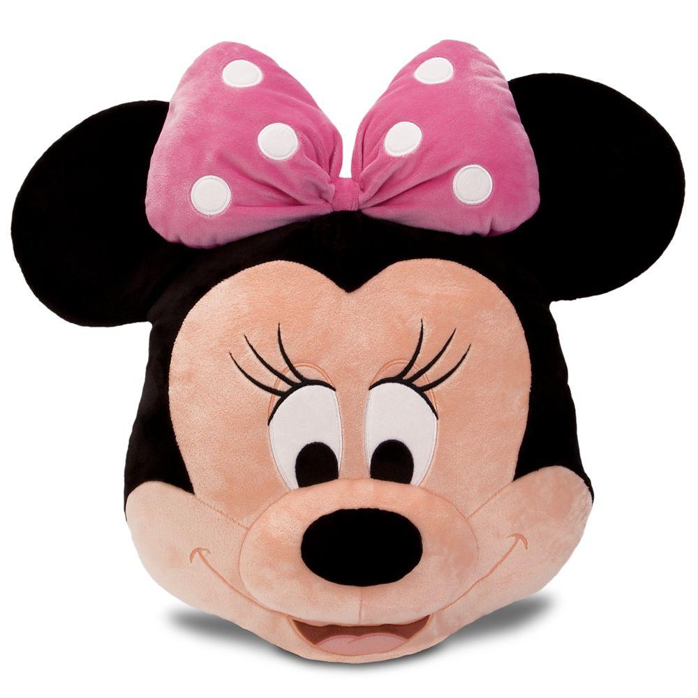 minnie mouse plush pillow pink 16 shopdisney
