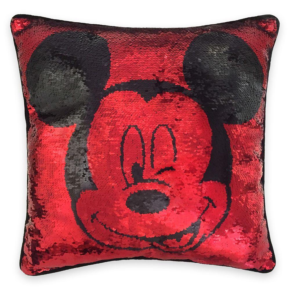 mickey mouse reversible sequin pillow shopdisney