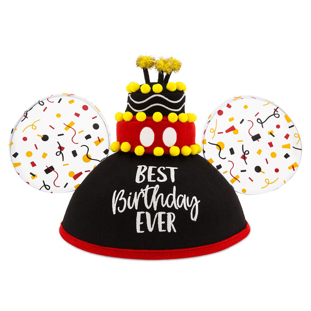 Mickey Mouse Best Birthday Ever Ear Hat For Adults Shopdisney