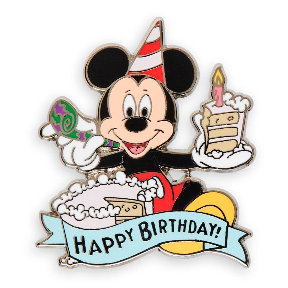 Mickey Mouse Happy Birthday Pin Shopdisney
