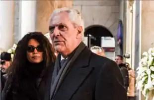 Afef e Tronchetti funerale Moratti