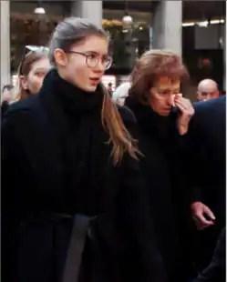 Letizia al funerale Moratti