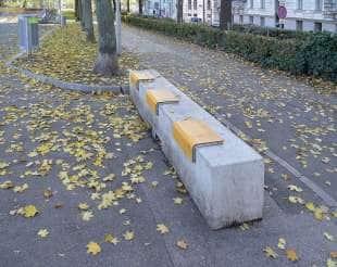 una panchina di vienna