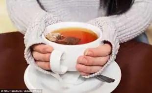 te e caffe riducono assorbimento dei minerali