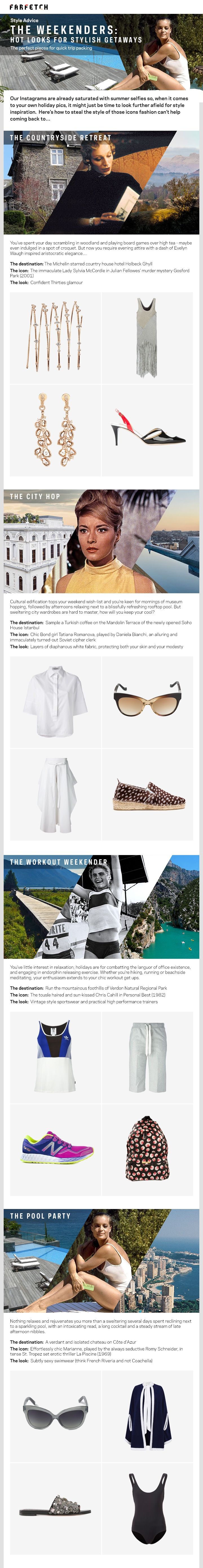 Hot Looks for a Stylish Getaway Infographic