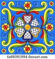 free talavera tile art prints and wall