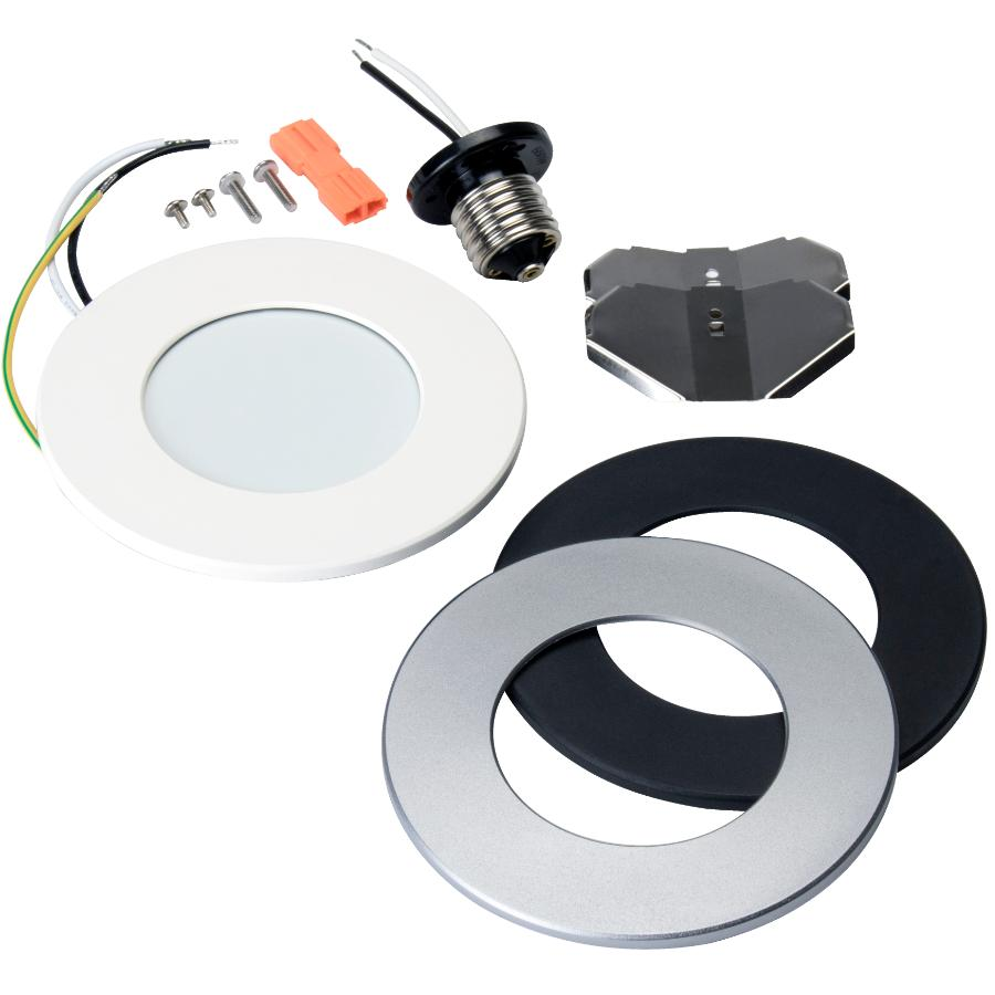 liteline 4 round dim to warm recessed white led light fixture for junction box or can home hardware