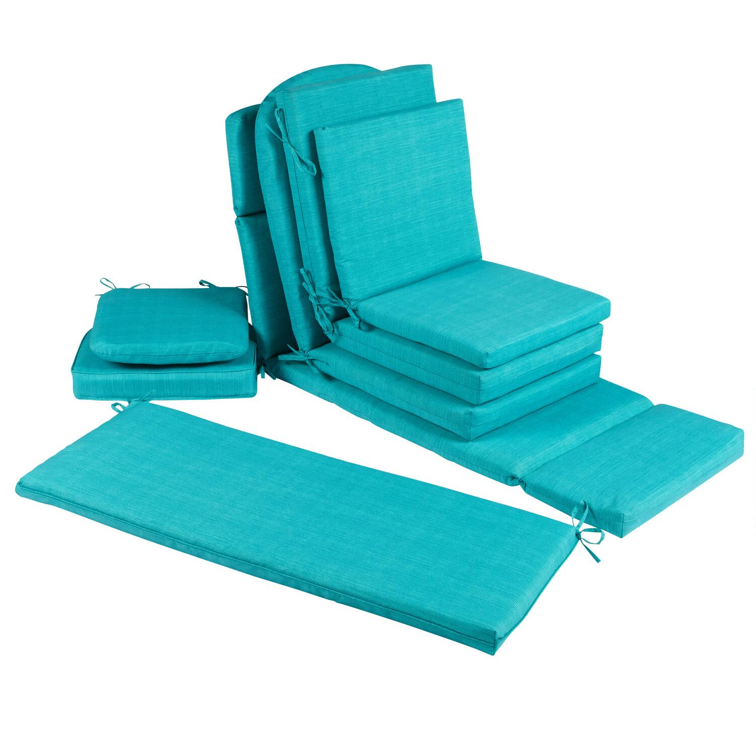 solid turquoise indoor outdoor chair cushions collection