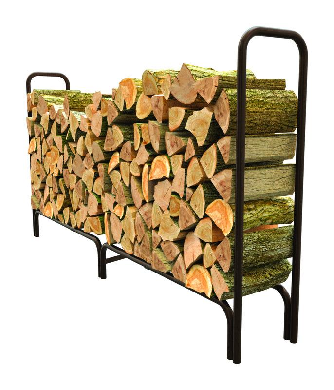 Panacea Black Powder Coated Steel Log Rack Ace Hardware