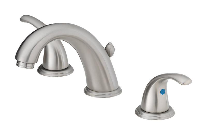 oakbrook coastal brushed nickel widespread lavatory pop up faucet 6in 12 in