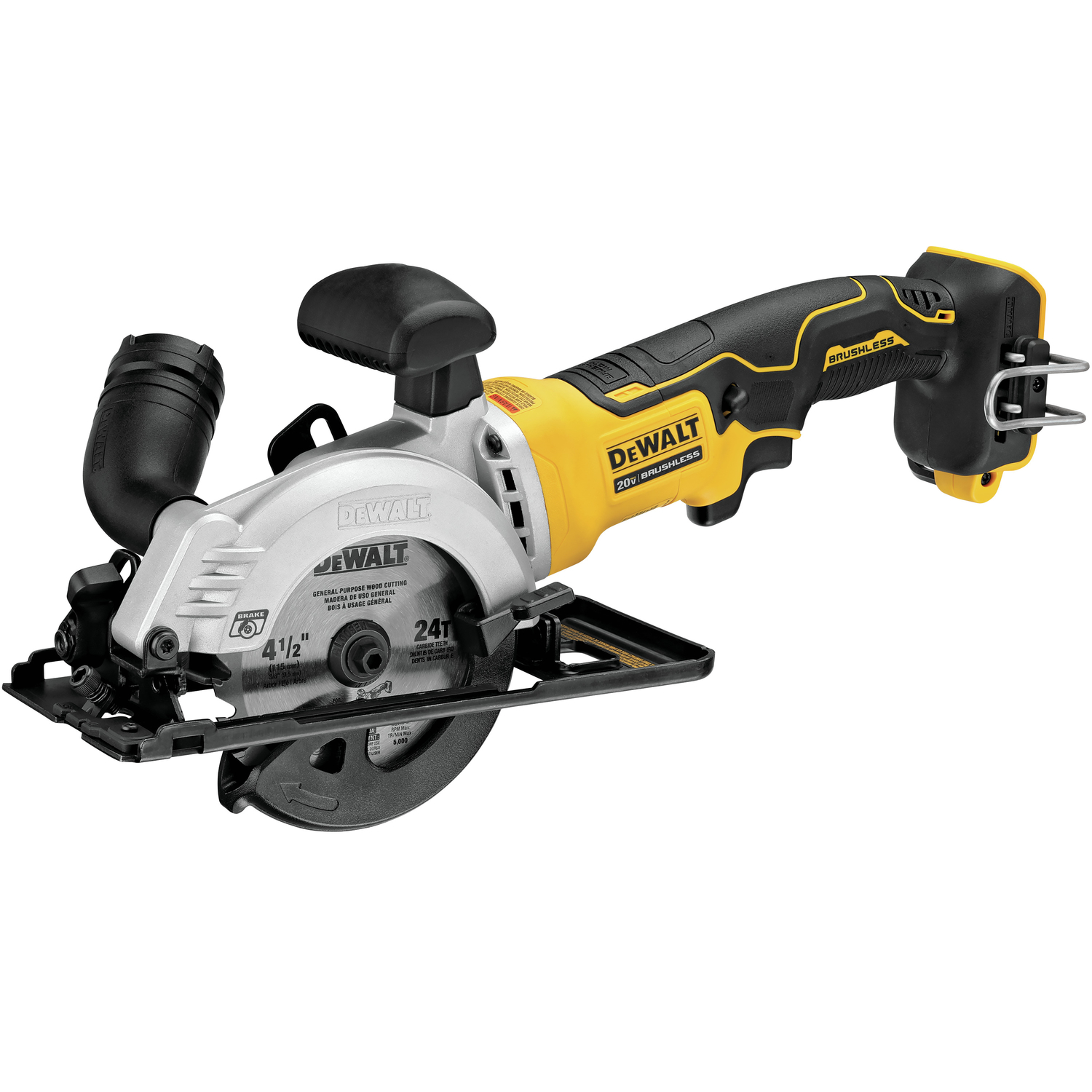 dewalt atomic 20 volt 4 1 2 in cordless brushless compact circular saw tool only