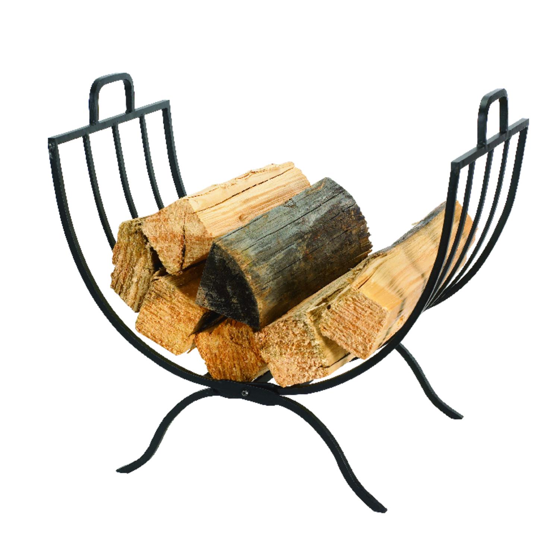 Panacea Black Matte Steel Log Rack Ace Hardware