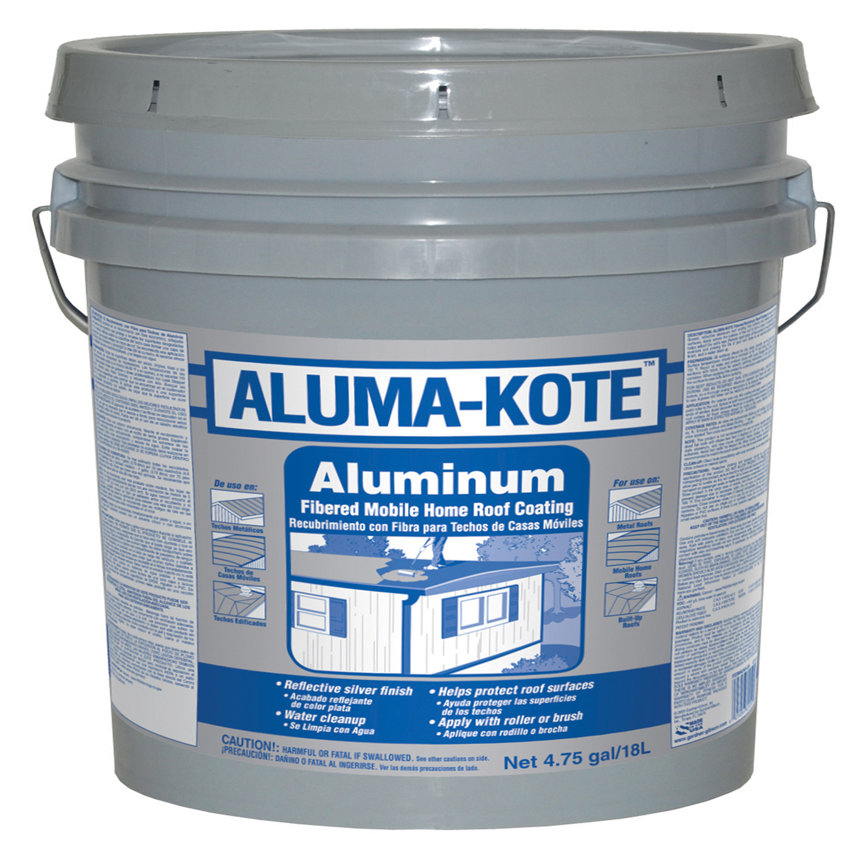 gardner aluma kote gloss silver fibered aluminum roof coating 5 gal