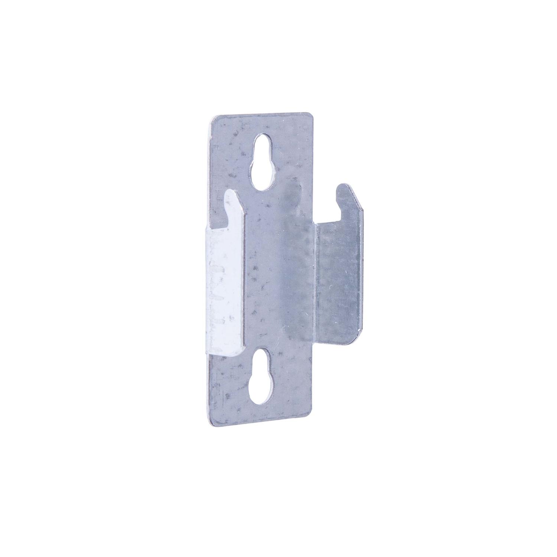kenney silver lockseam double curtain rod bracket