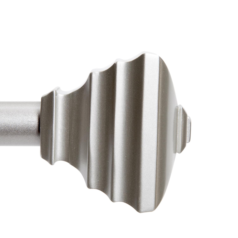 kenney nickel silver fast fit jayden curtain rod 42 in l x 120 in l