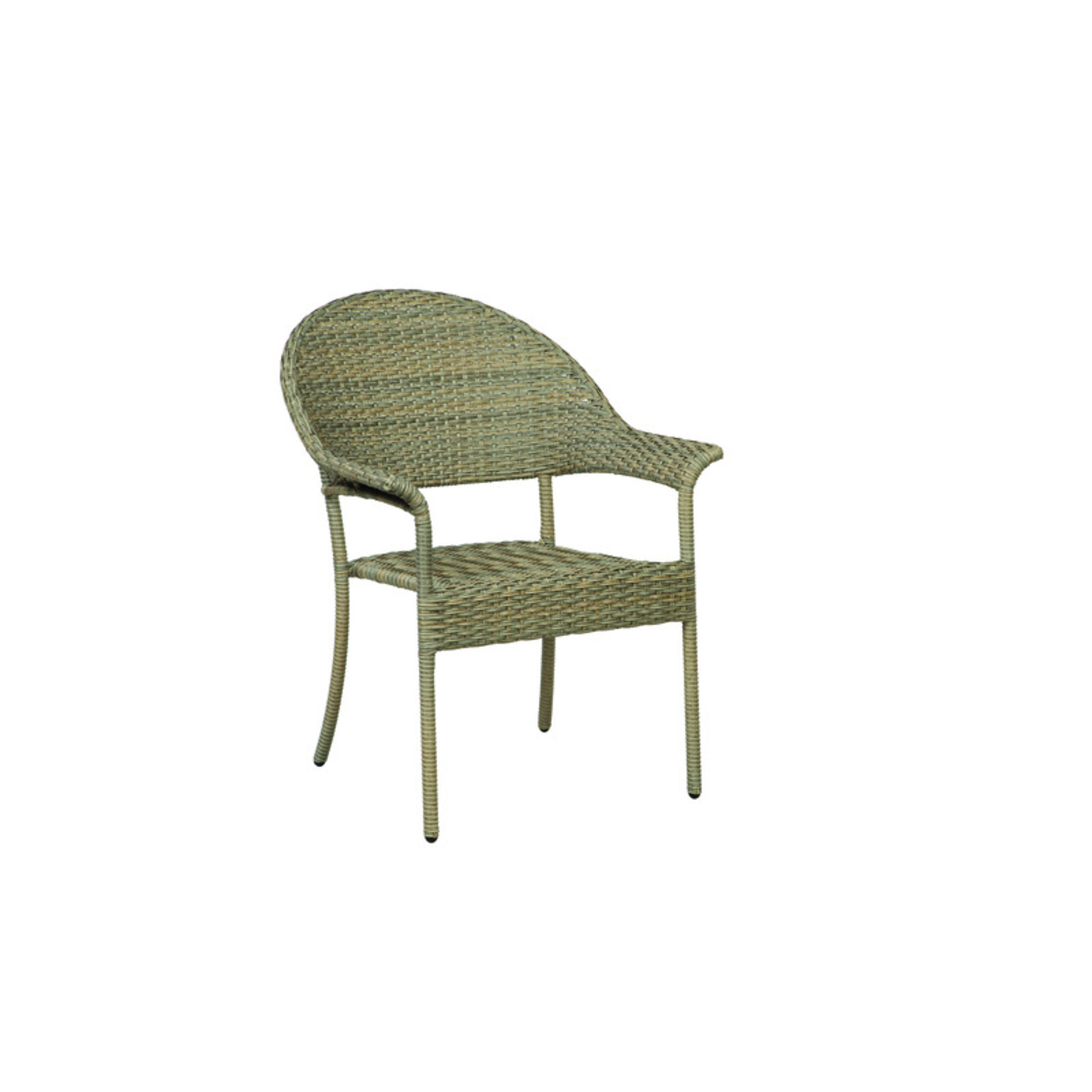 living accents fairwood wicker frame stackable armchair