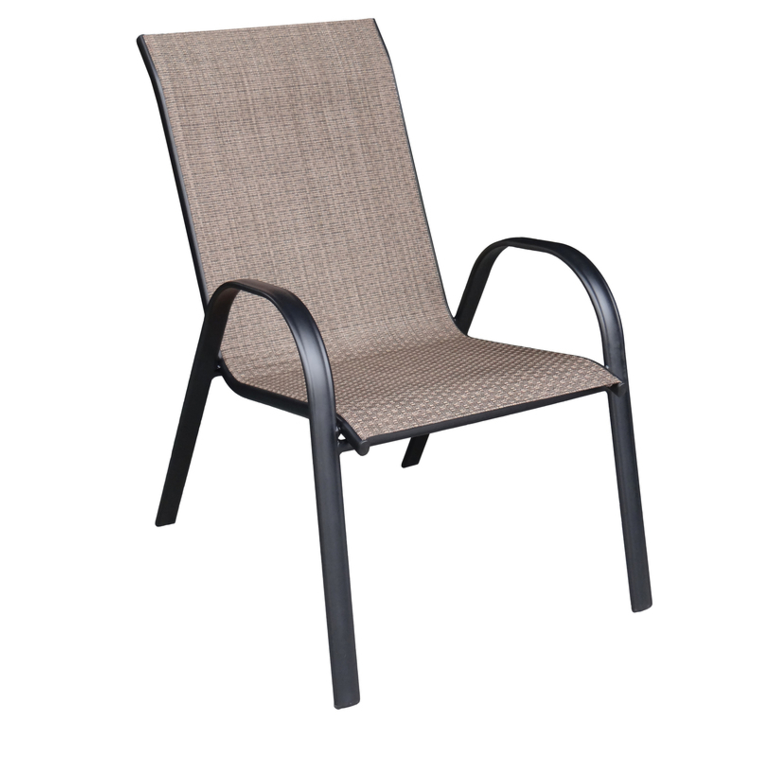 living accents black steel frame sling chair