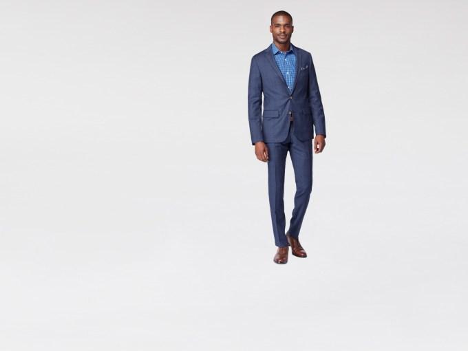Navy Chestnut Plaid Suit
