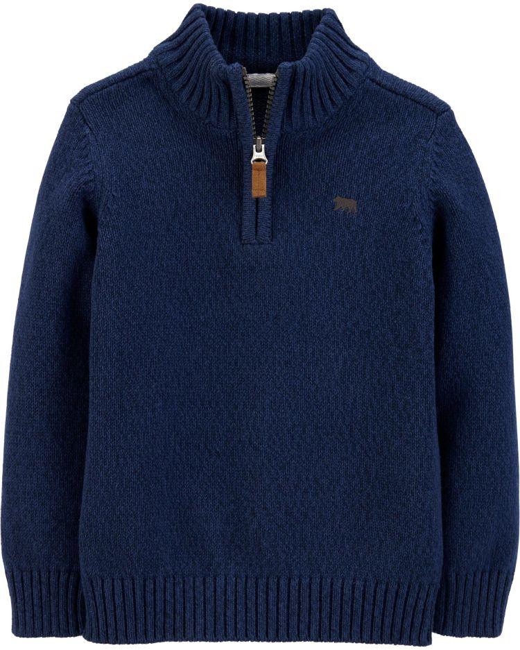 Half-Zip Pullover Sweater, , hi-res