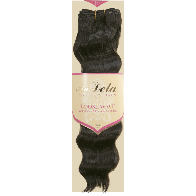 Loose Wave Dark Brown 14 Inch Human Blend Hair