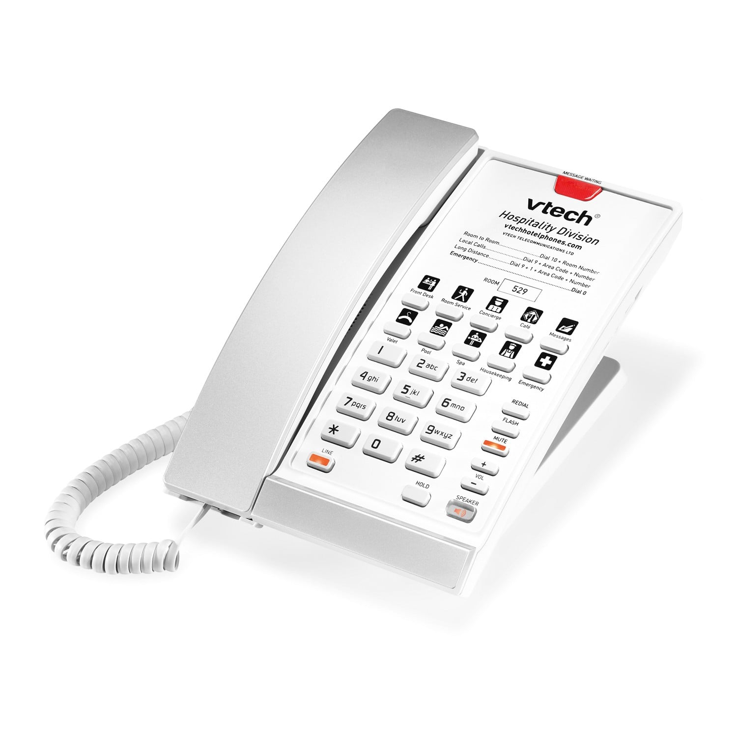 1 Line Contemporary Sip Corded Phone