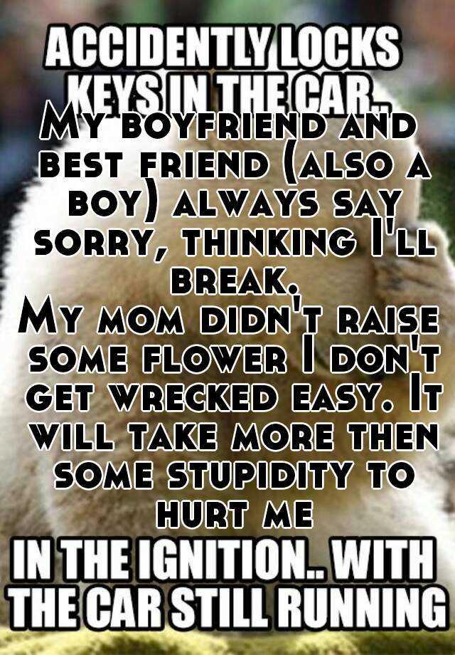saying sorry to my boyfriend